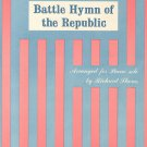 BATTLE HYMN OF THE REPUBLIC Piano Solo Sheet Music Arranged by Richard Shores