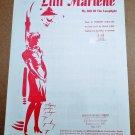 LILLI MARLENE (MY LILLI OF THE LAMPLIGHT) Piano/Vocal Sheet Music GERMAN/ENGLISH