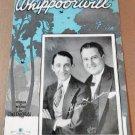 WHIPPOORWILL Piano Vocal Ukulele Sheet Music GENE AND GLENN © 1930