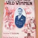 CAN YOU TAME WILD WIMMEN Piano Vocal Sheet Music BILLY GLASON © 1918