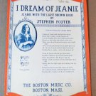 I DREAM OF JEANIE (JEANIE WITH THE LIGHT BROWN HAIR) Piano Vocal Sheet Music