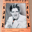 DANCING WITH TEARS IN MY EYES Piano Vocal Strings Sheet Music RUDY VALLÉE © 1930