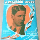 I'M JUST A VAGABOND LOVER Piano Vocal Ukulele Sheet Music RUDY VALLÉE © 1929