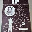 IF Piano/Vocal/Ukulele Sheet Music PERRY COMO COVER © 1950