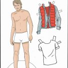 MICHAEL J. FOX Paper Dolls from an Adult Activity Book - 2 PAGES