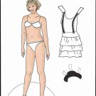 DEBBIE GIBSON Paper Dolls from an Adult Activity Book - 2 PAGES