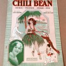 CHILI BEAN EENIE-MEENIE-MINIE-MO Piano Vocal Sheet Music AILEEN STANLEY © 1920