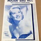 MOCKIN' BIRD HILL Piano/Vocal Sheet Music PATTI PAGE COVER © 1949