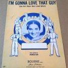 I'M GONNA LOVE THAT GUY Piano Vocal Sheet Music KAY ARMEN © 1945