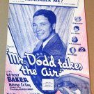 REMEMBER ME? Piano/Vocal/Guitar Sheet Music MR. DODD TAKES THE AIR Kenny Baker