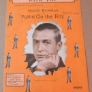 WITH YOU Piano/Vocal/String Sheet Music PUTTIN' ON THE RITZ Harry Richman © 1929