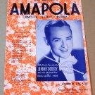 AMAPOLA (PRETTY LITTLE POPPY) Piano/Vocal Sheet Music ENGLISH FRENCH SPANISH