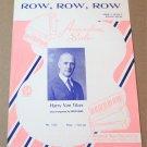 ROW, ROW, ROW Accordion Solo Sheet Music HARRY VON TILZER Pietro Deiro © 1952