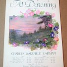 AT DAWNING (I LOVE YOU)  Piano/Vocal/Violin Sheet Music © 1924 Lower Medium in F
