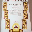 ON THE LAKE Piano Sheets Music - Duet: 4 Hands 1 Piano - by Gertrude Keenan 1935