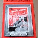 IN A LITTLE HULA HEAVEN Piano/Vocal/Guitar Sheet Music BING CROSBY © 1937