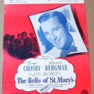 IN THE LAND OF BEGINNING AGAIN Piano/Vocal Sheet Music BING CROSBY © 1945