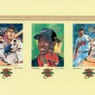 TIGER WOODS Ted Williams GREG MADDUX - 3 Legends Sports Memorabilia Postcards