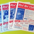 5 Vintage RED HOT VIDEO VANCOUVER Adult Video Tape Guides