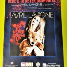 HERE'S TO NEVER GROWING UP Piano Vocal Guitar Sheet Music AVRIL LAVIGNE © 2013