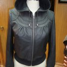 NWT Women's Hooded Leather Jacket Sheep Skin Nappa