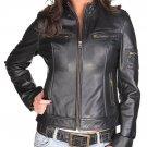 NWT Women's Lambskin Leather Jacket Style 20F