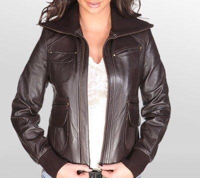 NWT Women's Leather Jacket Style 26F