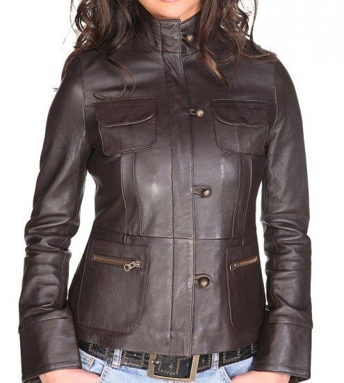 NWT Women's vintage style lambskin leather jacket style 32F