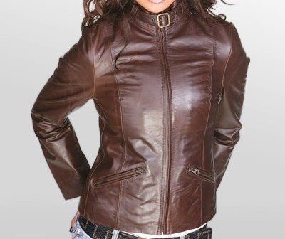 NWT Women's Vintage Bomber Leather Jacket Style 34F