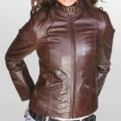 NWT Women's Vintage Bomber Leather Jacket Style 34F