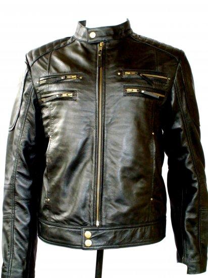 NWT Men's Biker Leather Jacket Style M20