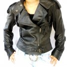 NWT Women's Motorbike Leather Jacket Style 7F