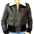 NWT Men's Bomber Evolution Leather Jacket Style M12