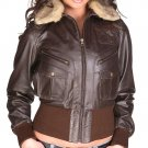Women's Bomber Evolution Leather Jacket S/21F S-XL