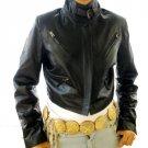 NWT Women's Cropped Bomber Leather Jacket Style 2800