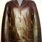 Women's 3 Button Blazer Style Leather Jacket FS-10