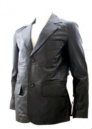 Made to Measure Men's 2 Button Classic Leather Blazer Style M80