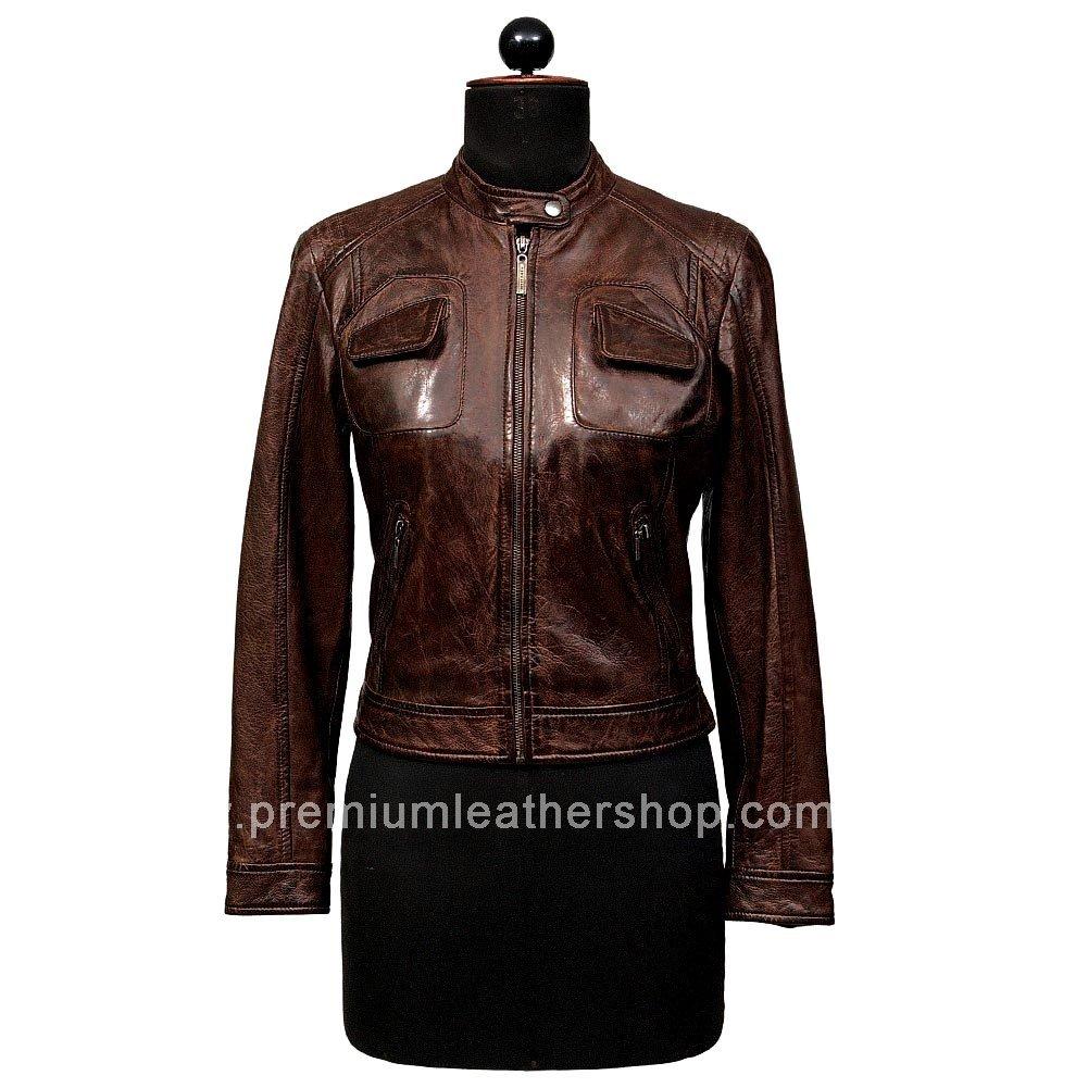 NWT Women's Bomber Leather Jacket Style 28F
