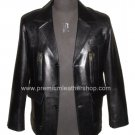 NWT Men's 3 Button Leather Blazer Jacket Style M26