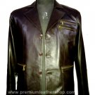 NWT Men's 3 Button Leather Blazer Jacket Style M18