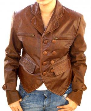 NWT Women's Boyfriend Leather Blazer Jacket Style 36F Sizes XS to 3XL