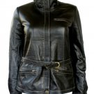 NWT Women's Made to Measure Bomber Leather Jacket Contrast Stitch Style 23F