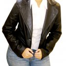 NWT Women's 1 button Casual Style Leather Blazer Jacket Style 3200