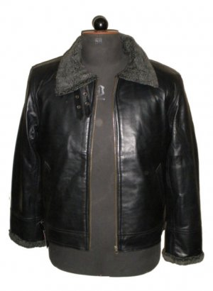 NWT Men's Bomber Sheep Skin Shearling Leather Jacket Style M88