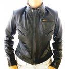 Women's Cropped Motorbike Leather Jacket Style 2900