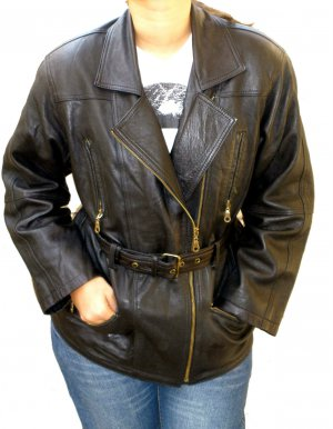 NWT Women's Motorbike Leather jacket Style 23F