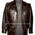 """Men's Blazer Spy Series Leather Jacket MD12 Big & Tall Size 5X (58"""" chest)"""
