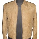 "Men's Bomber distressed color Snuff Leather Jacket Style M804 Size ""4XL"" Camel"