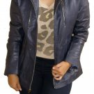 "NWT Women's Biker Leather Jacket Style 5700 Size ""XL"" Color Black"