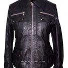 NWT Women's Bomber Style Leather Jacket Style 2550